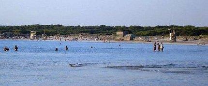 Het beschermd natuurgebied Es Trenc en strand